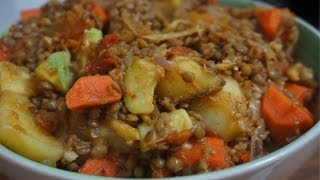 Lentil Hotpot Recipe  - Vegan Ginger & Vegetable stew casserole