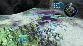 Halo Wars: Spartan(s) vs Elite Honor Guards