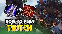 How to Play TWITCH ADC for Beginners   TWITCH Guide Season 10   League of Legends