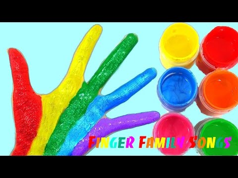 Thumbnail: Learn Colors for Children Body Paint Finger Family Song Nursery Rhymes Learning Video