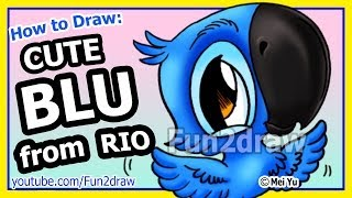 Rio Movie Blu - How to Draw Cartoons - Fun2draw animals