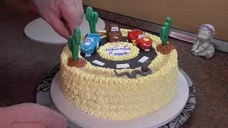 Торт Тачки в Пустыне.