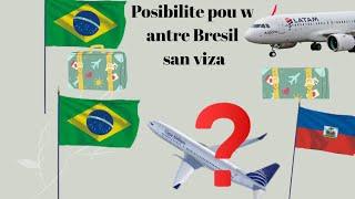 Men yon posibilite ki ka pi fasil pou w antre Bresil san Visa. Eske Copa pran yon nouvo ...