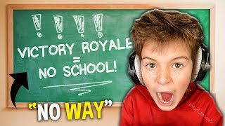 Victory Royale = NO SCHOOL FOR A WEEK..? (Noob vs. Pro)