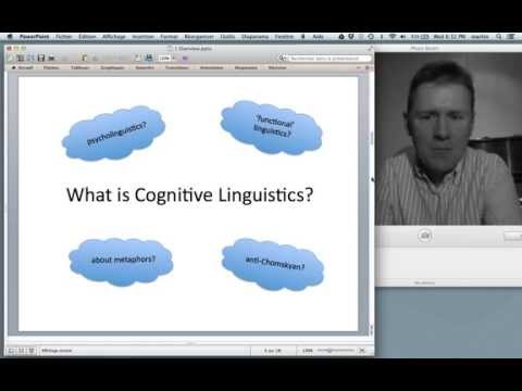 A course in Cognitive Linguistics: Introduction