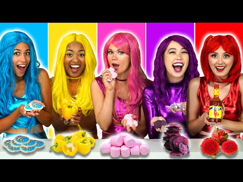 EAT ONLY ONE COLOR OF FOOD WITH THE SUPER POPS (Based on the 24 Hour Rainbow Food Challenge)