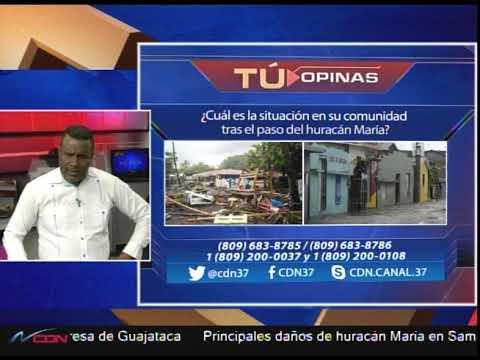 ¿Cuál es la situación en su comunidad tras el paso del huracán María? 2