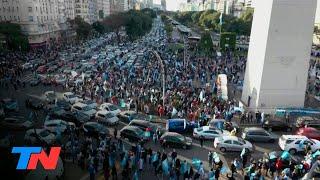 9 de Julio: banderazos en todo el país | En el Día de la Independencia, protesta en el Obelisco