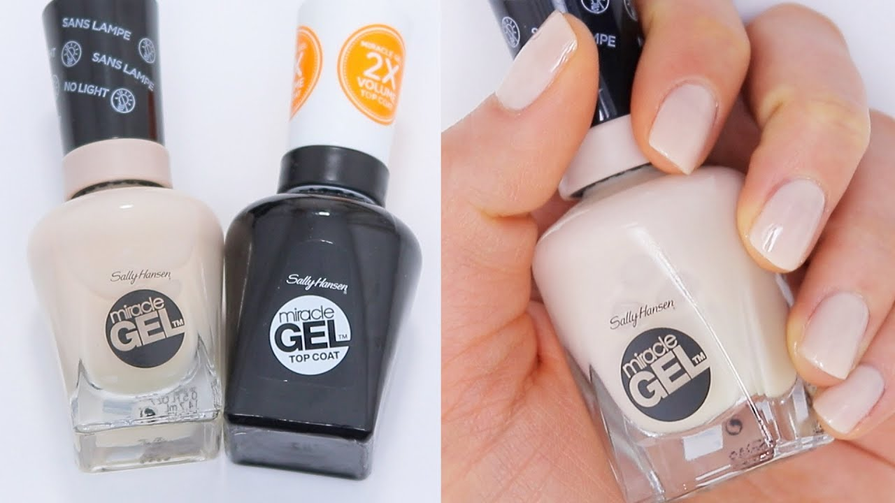 Sally Hansen Miracle Gel Nail Polish Review 7 Day Test Youtube