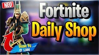 Fortnite Daily Shop *NEW* GUAN YU SKIN (2 December 2018)