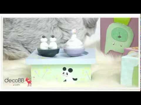 boite musique magn tique panda trousselier youtube