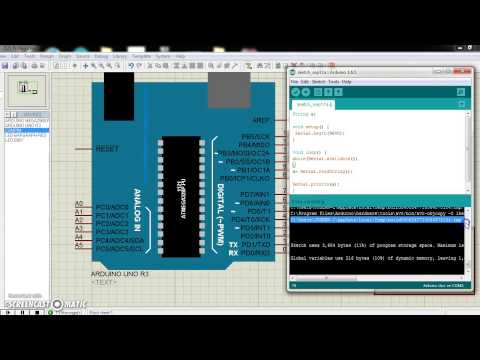 Tutorial :(USART) Arduino Serial.readString() Using Proteus