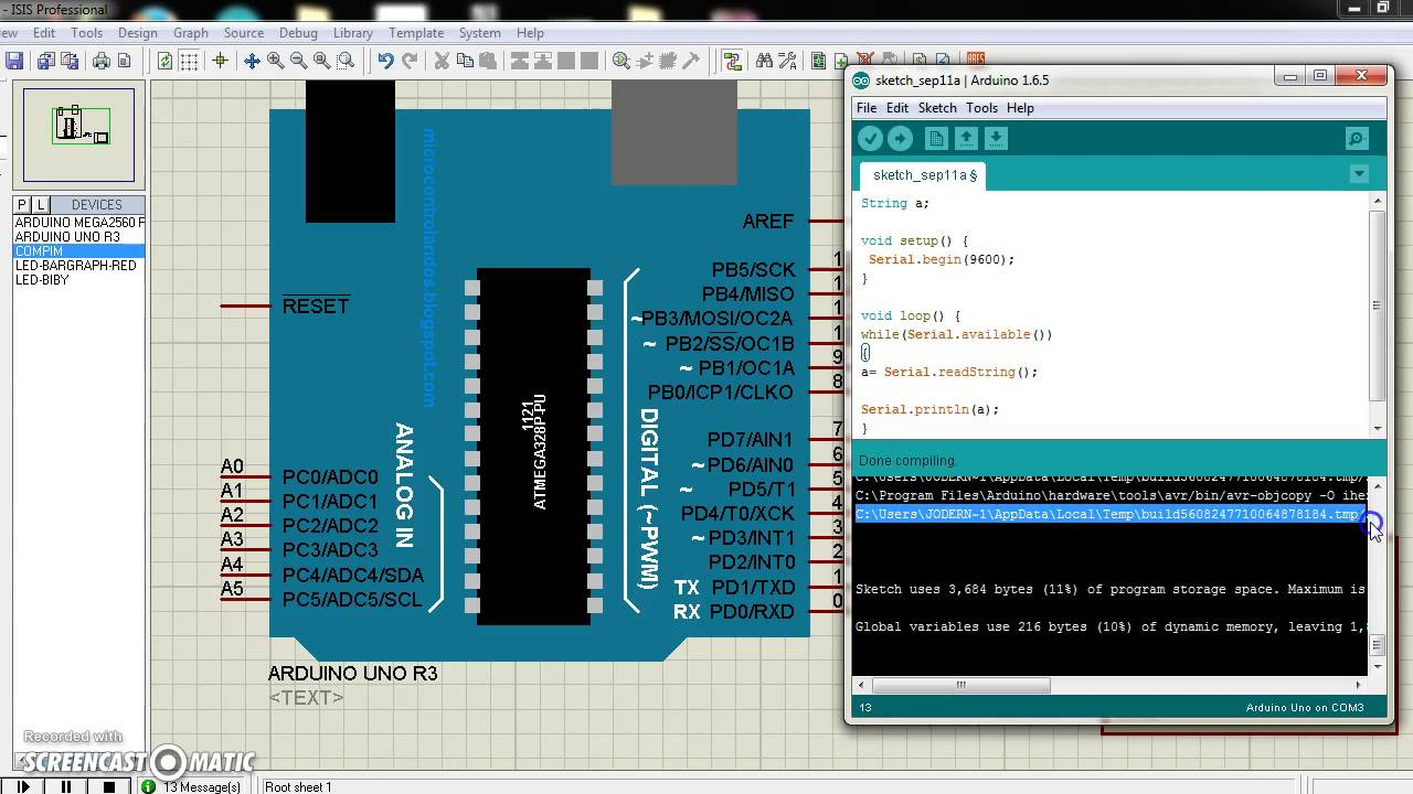 Arduino Function Serial read() and Serial readString() : 4 Steps