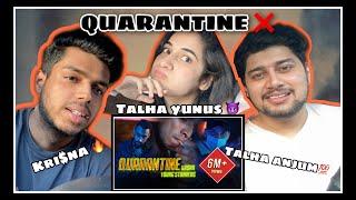 Quarantine | Talha Anjum x Talhah Yunus x KR$NA | REACTION BY DNM
