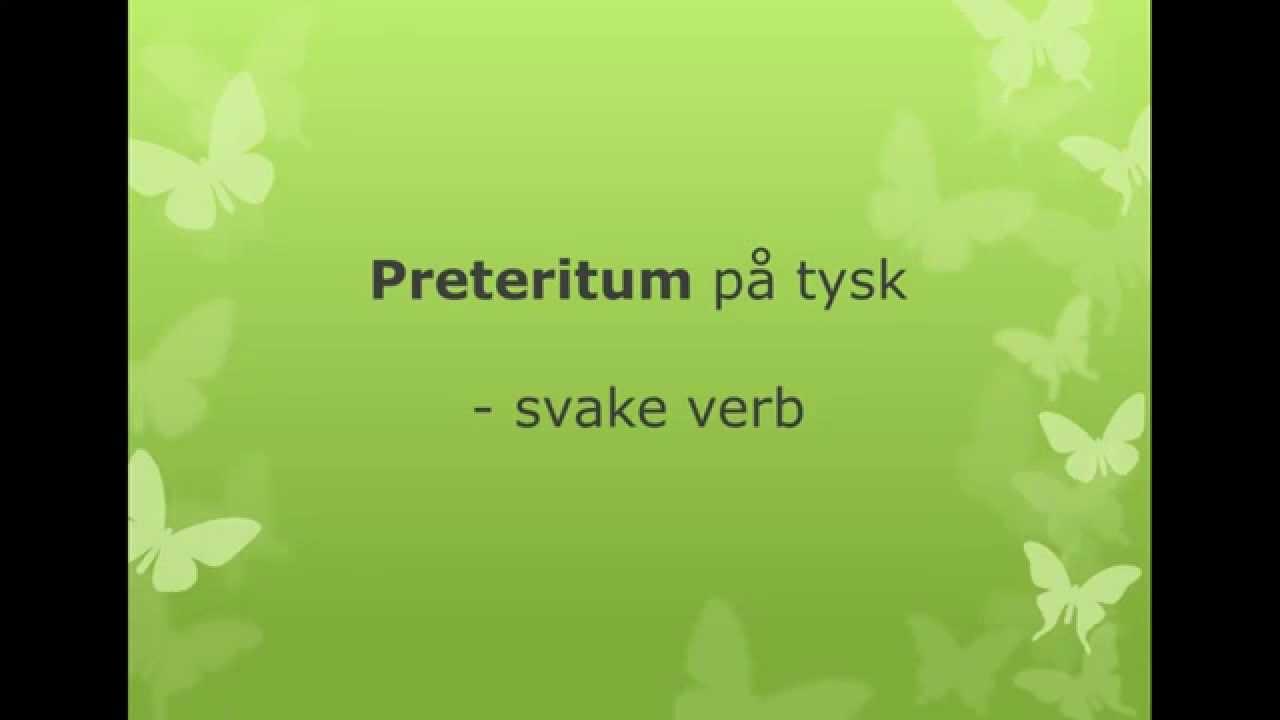 Preteritum av svake verb på tysk