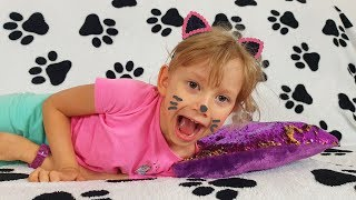 Alena wants to play with pets - cats  VS dogs