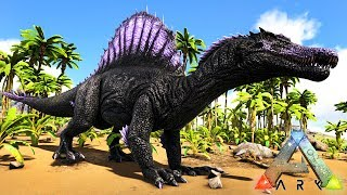 ARK: SURVIVAL EVOLVED - TAMING A SPINO!!