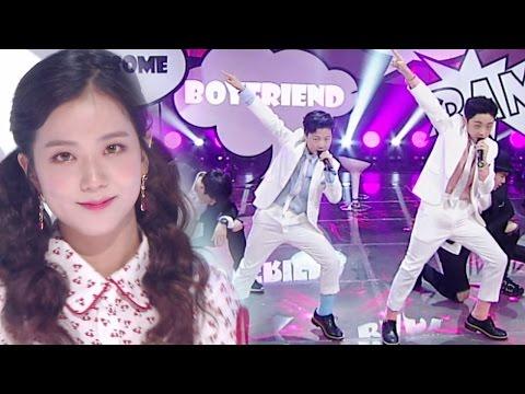 《Special Stage》 BoyFriend (보이프렌드) X JISU (BLACKPINK) (지수(블랙핑크)) - Swing Baby @인기가요 Inkigayo 20170430