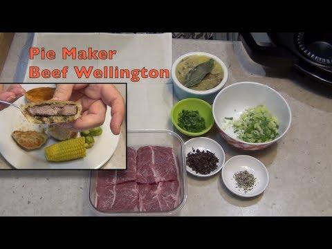 Beef Wellington Made In The Sunbeam Pie Magic Pie Maker Cheekyricho Cooking Video Recipe Ep.1,253