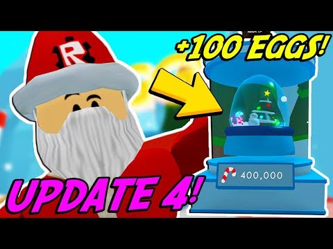 OPENING 100 GLOBE EGGS IN BUBBLE GUM SIMULATOR! *UPDATE 4 CHRISTMAS EVENT* (Roblox)