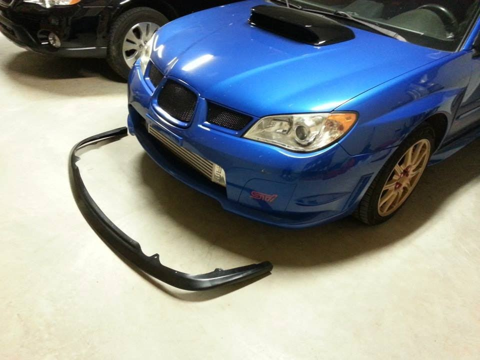 Front Lip Installed Subaru Sti 2007