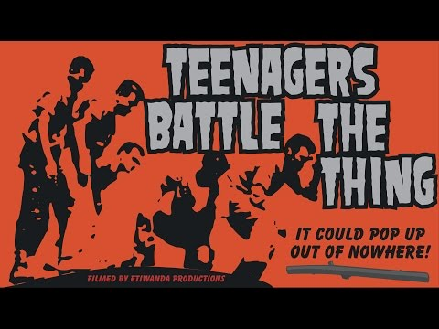 Teenagers Battle The Thing horror movie, 1958 complete
