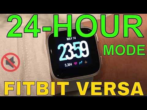 How to get 24-hour clock on Fitbit Versa Watch