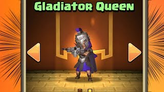 NEW HERO SKIN for ARCHER QUEEN! Gladiator Queen Skin Gameplay in Clash of Clans!
