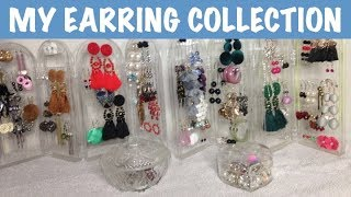 MY EARRING COLLECTION | Accessories | Organisation | 14 Earrings I Adore | Try On