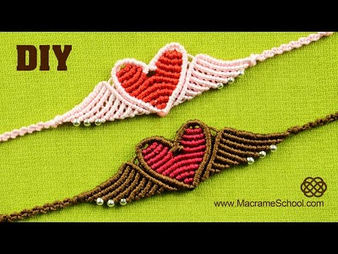 Flying Heart Bracelet Tutorial