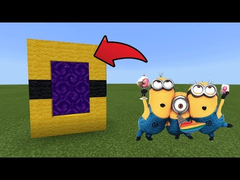 How To Make a Portal to the Minions Dimension in MCPE (Minecraft PE)