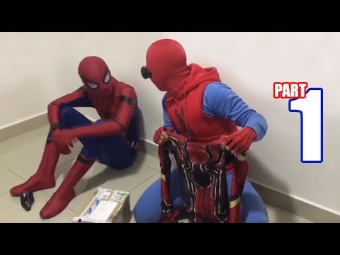spiderman-bros-unboxing-new-suit-from-infinity-war!!!