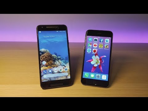 iPhone 6 iOS 11.1.1 vs Nexus 5x Oreo 8.1 - Speed Test!