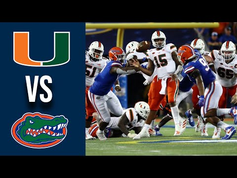 Miami Vs #8 Florida Highlights Week 1 College Football 2019