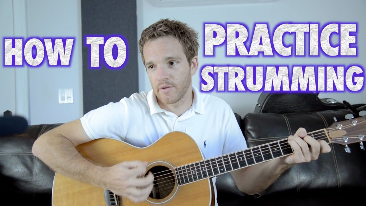 how to practice guitar strumming with loop control youtube for