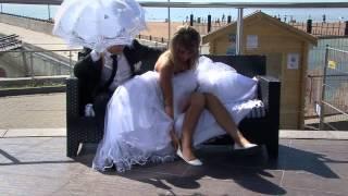 Свадебный клип- Белое платье белая фата