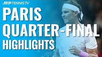 Djokovic & Shapovalov Storm Through; Nadal Ends Tsonga's Run | Paris 2019 Quarter-Final Highlights