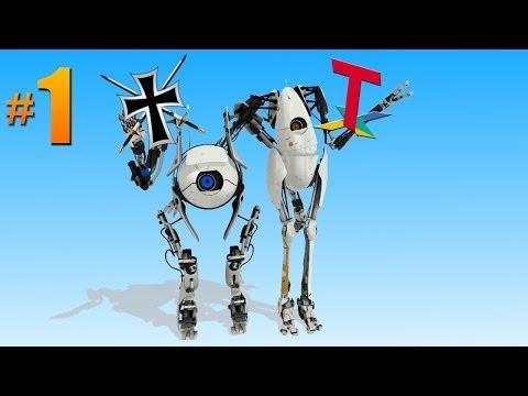 Portal 2 CO-OP│en Español por TulioX & HerrKarkaverlot│Parte #1│c/ Fede