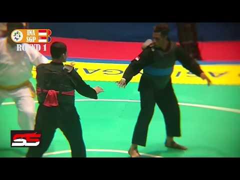 FINAL ASIAN GAMES 2018 PENCAK SILAT AJI BANGKIT PAMUNGKAS VS SINGAPORE CLASS I MALE