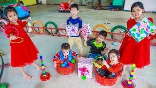 Kids Go To School | Chuns Birthday Children Friends Have Fun Making Birthday In The Toy Park