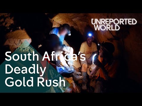 Searching for gold in South Africa's abandoned mines