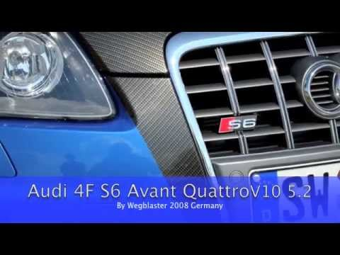 audi s6 v10 5 2 individual exhaust german sound youtube. Black Bedroom Furniture Sets. Home Design Ideas