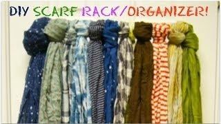 Diy Scarf Hanger/organizer Rack