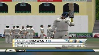 Shikhar Dhawan's 187 of 174 balls VS Australia | IND VS AUS 3rd Test 2013 | EA Sports Cricket 07