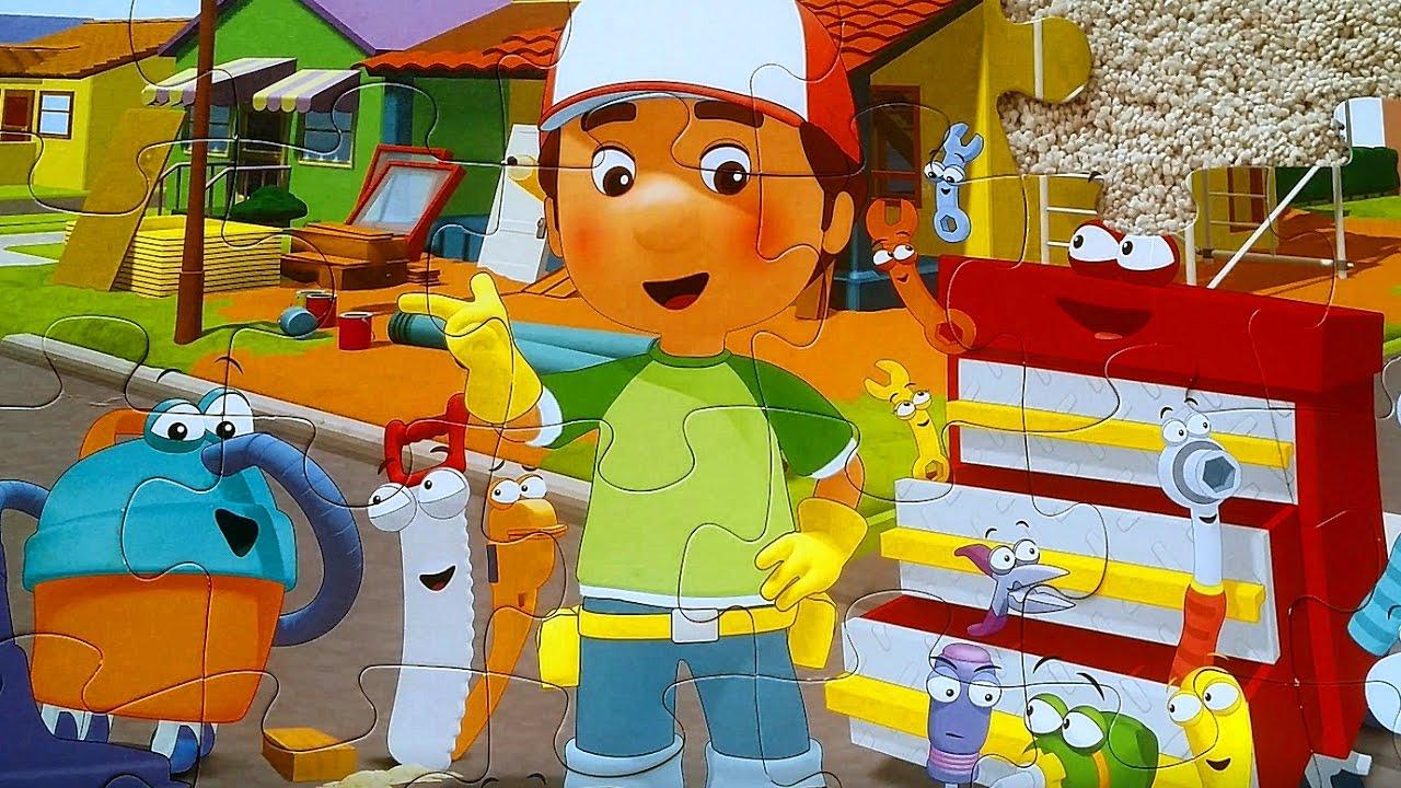 handy manny - jigsaw puzzle 4k złota rączka manny et ses outils