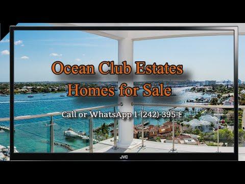 Homes for Sale Ocean Club Estates Nassau Bahamas