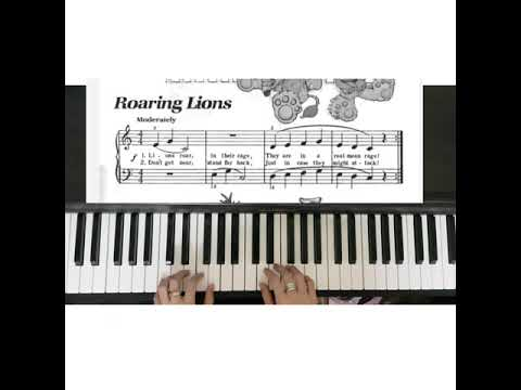 bastien-piano-basic-level-1:-roaring-lions