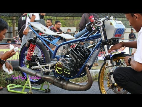 Motor RX KING Mirip Ninja Rangka Tune Up Drag Bike GDS Fun