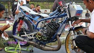 Motor RX KING Mirip Ninja Rangka Tune Up Drag Bike GDS Fun