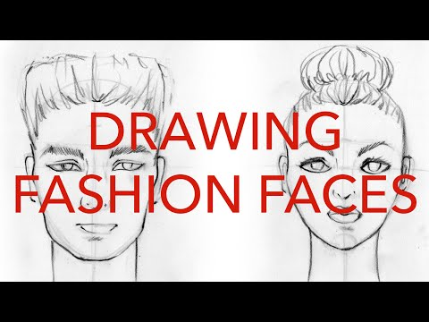 Fashion Faces Tutorial 1: Drawing Front Views: Male & Female thumbnail